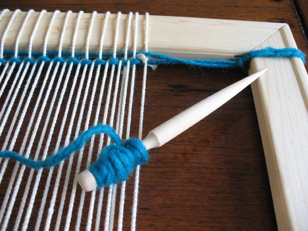 Preparing to Tapestry Weave
