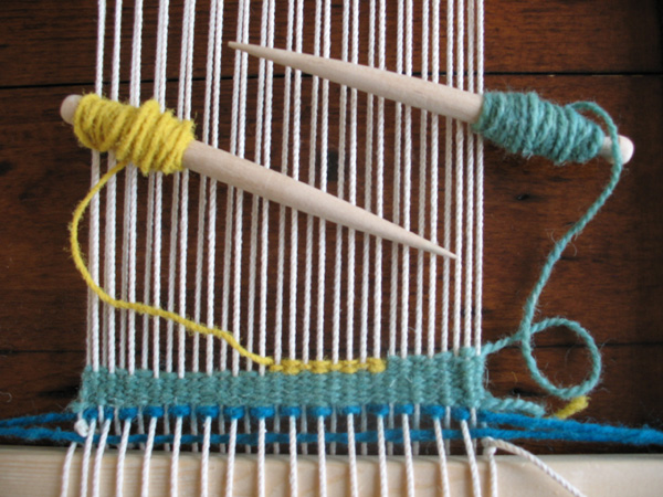 Beginners tapestry weaving