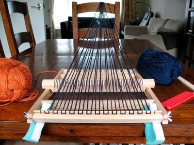 How to warp up a mini loom