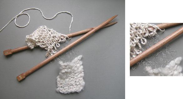 Knitting with Surina needles