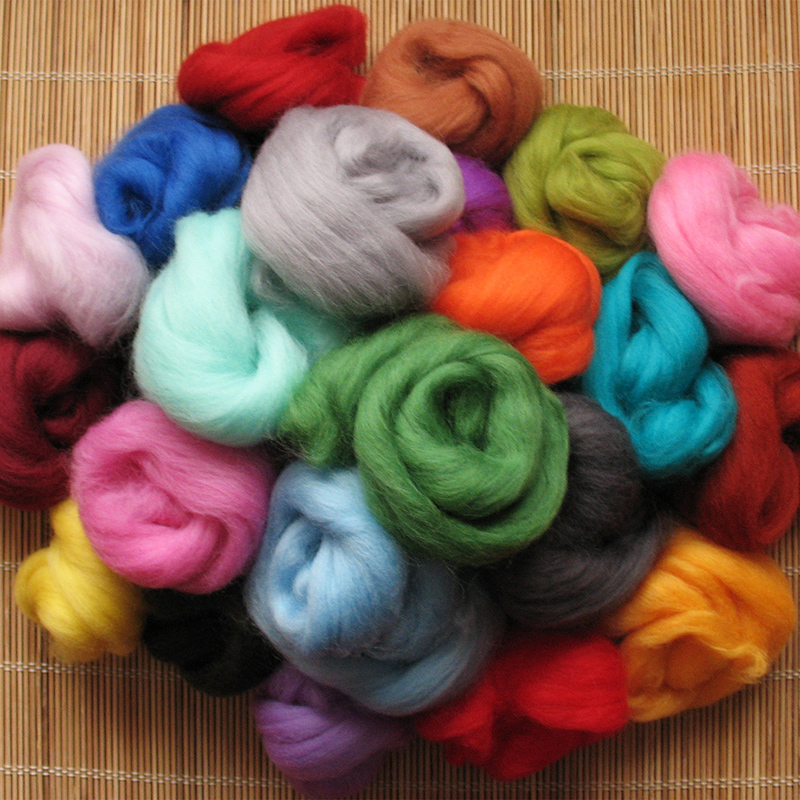 Colours of Merino Wool Fibres
