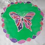Butterfly Painted on Silk