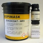 Stencil making with water-resistant Diazo Photo Emulsion