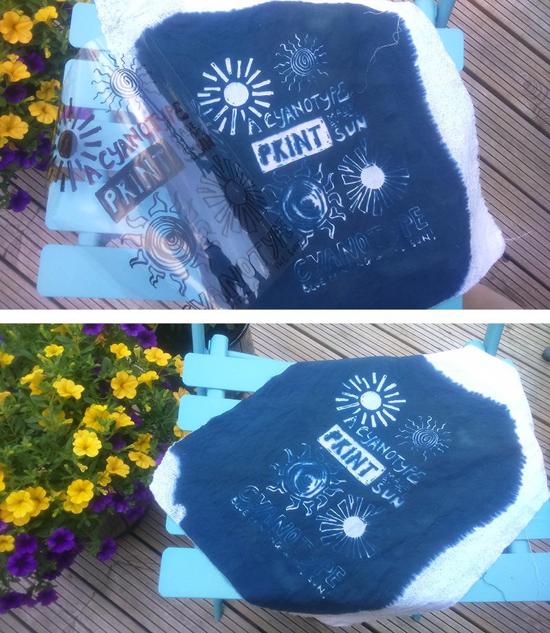 Cyanotype print on cotton