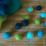 Felt Beads made from Merino Wool Tops