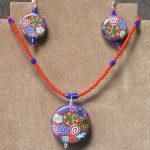 Polymer Clay Pendant & Earrings