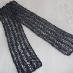 Hand Spun, Knitted Scarf