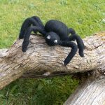 Hand Felted Spider for Halloween