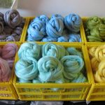 Spring coloured Wool Tops for Making Felt