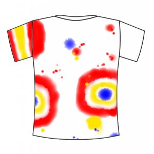 Tie-dyed t-shirt example