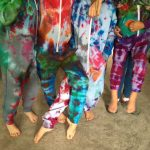 Tie-dyeing Onesies using Jacquard Procion MX dyes