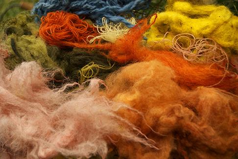 Naturally dyed wool fleece