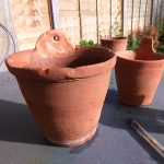 Mending and Hanging Terracotta Pots with Milliput Epoxy Putty