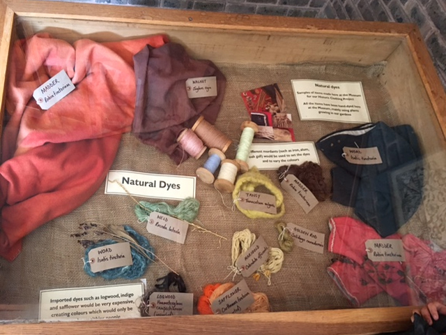 Natural dyeing display at Weald & Downland