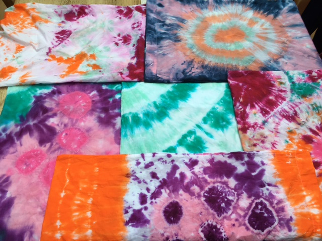 Tie-Dye Pillowcases made by Children