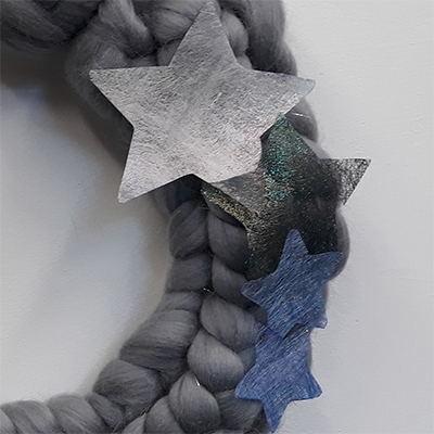 Stars made from Angelina fibre