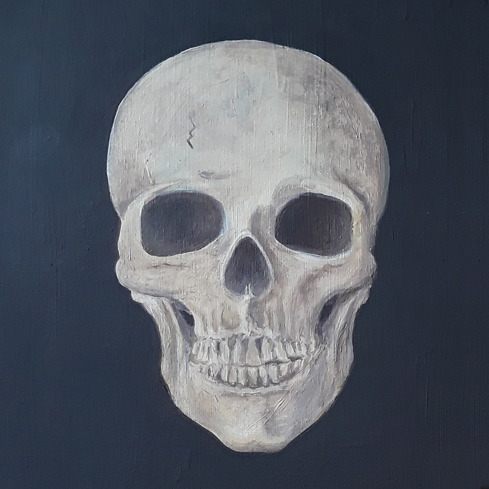 Skull painted using System 3 Acrylics