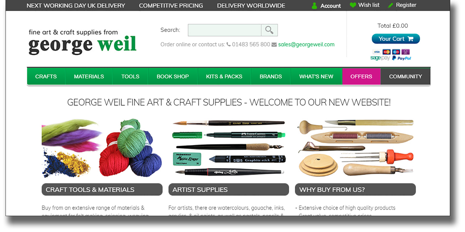 Introducing the new George Weil website