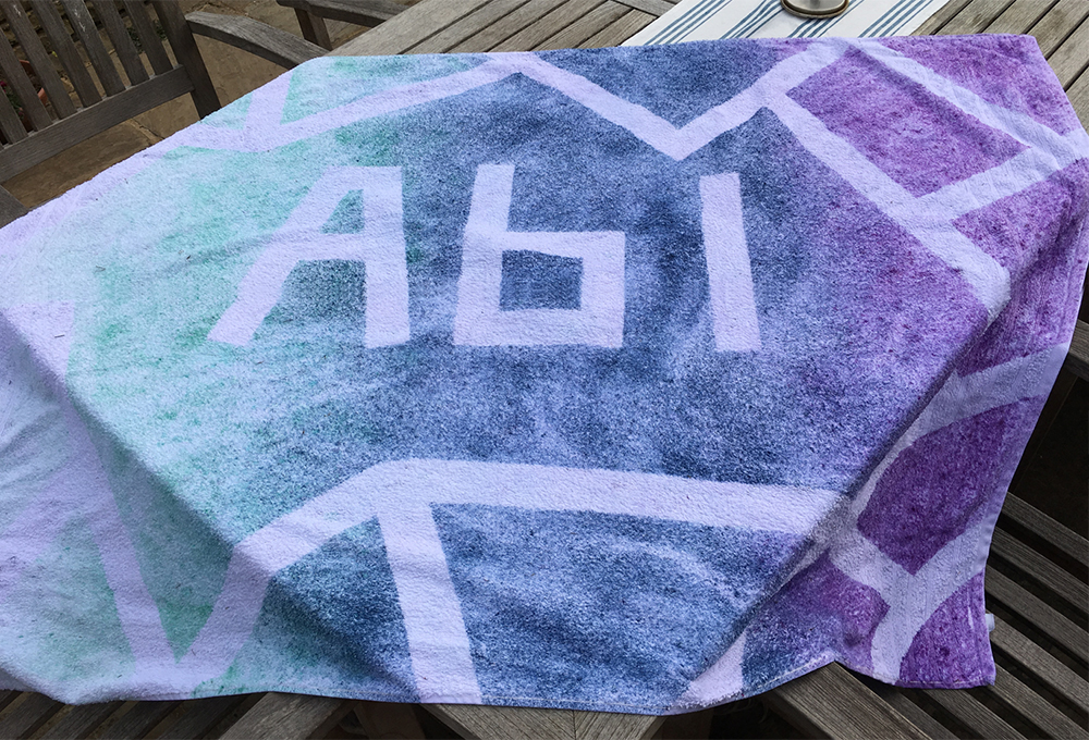 decorating towels with MX Procion dyes