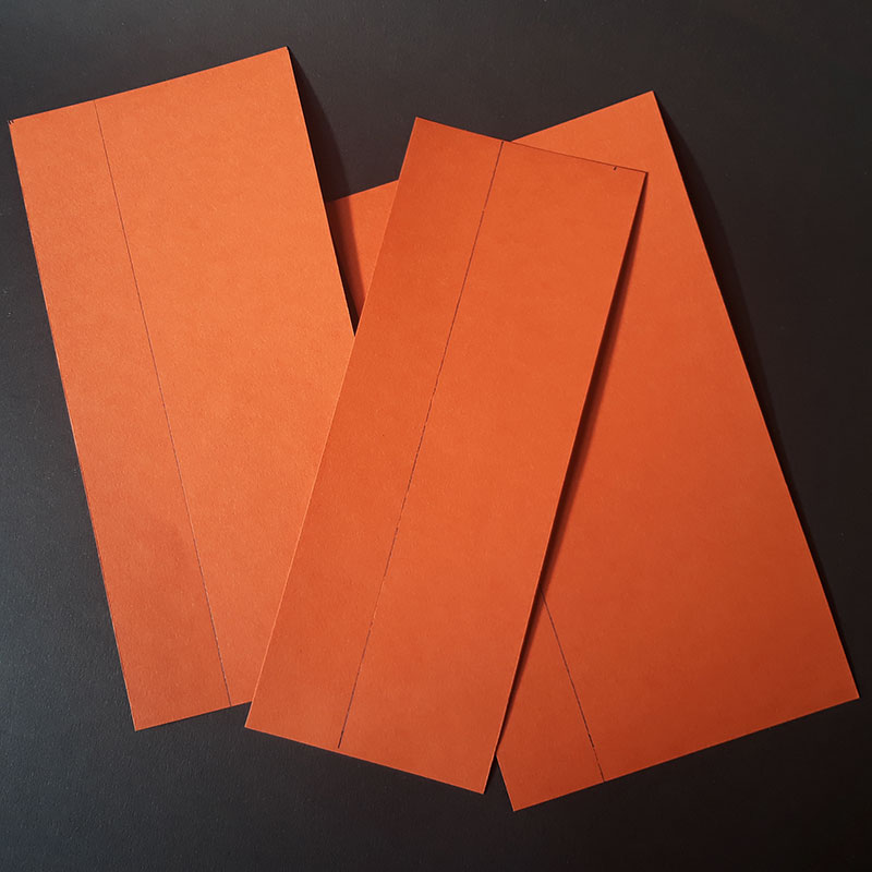 A4 sheet cut into 3