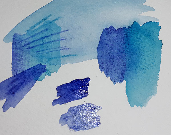 Using Inktense as a watercolour wash