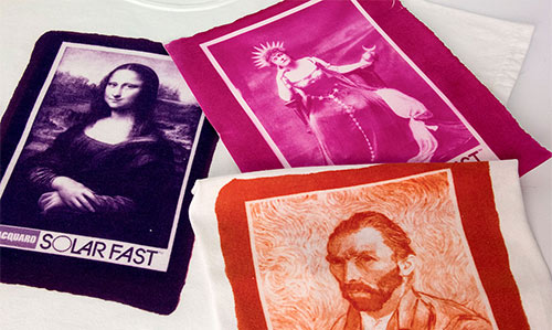 Prints made using Solar Fast dyes