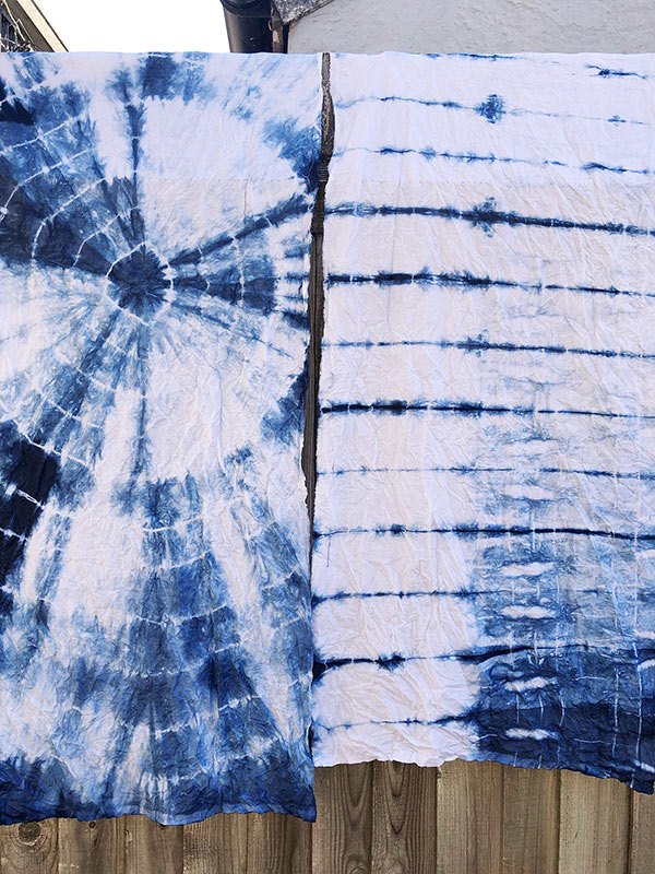 Tie dye with Natural Indigo dye