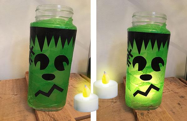 A Frankenstein Halloween Lantern!