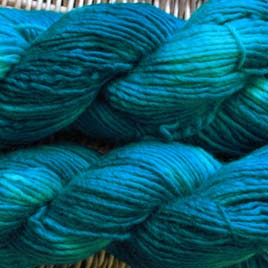 Bluefaced Leicester Yarn dyed in the microwave