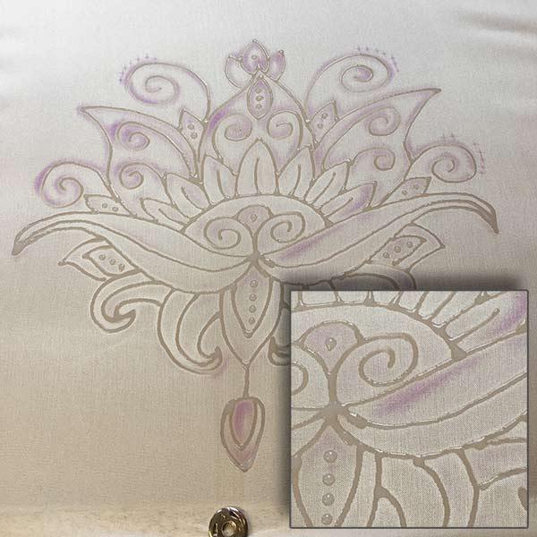 Gutta outline on silk