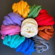 1kg mixed bag Merino Wool Tops