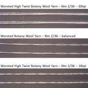 High Twist Balanced Wool Yarn