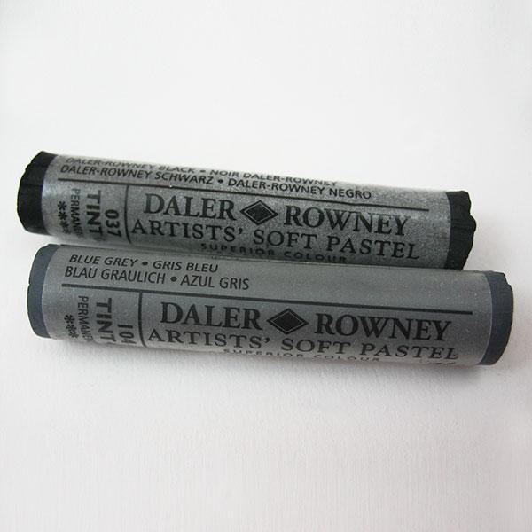 Daler Rowney Soft Pastels - Greys Black White