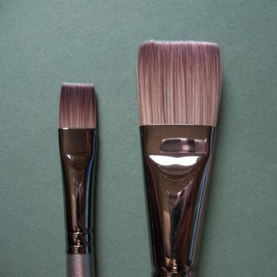 Cryla Short Handle Flat Glaze C15 Brushes