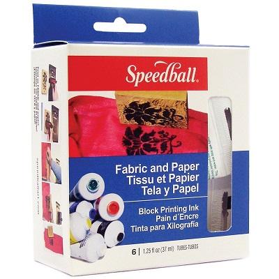 Speedball Fabric Block Printing Ink Starter Set