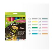 Tombow ABT Dual Brush Pen Set - 12 Pastel Colours