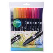 Tombow Dual Brush Pen Set - 12 Sunset Colours