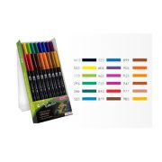 Tombow ABT Dual Brush Pen Set - 18 Primary Colours