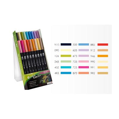 Tombow ABT Dual Brush Pen Set - 18 Secondary Colours