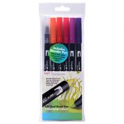 Tombow Dual Brush Pen Set - 6 Sunset Colours