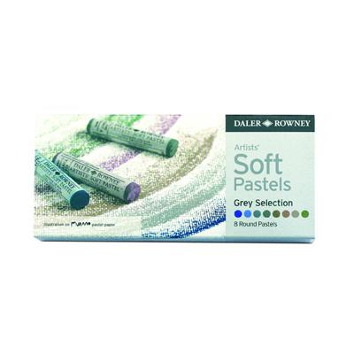 Daler Rowney Soft Pastels set - 8 Grey