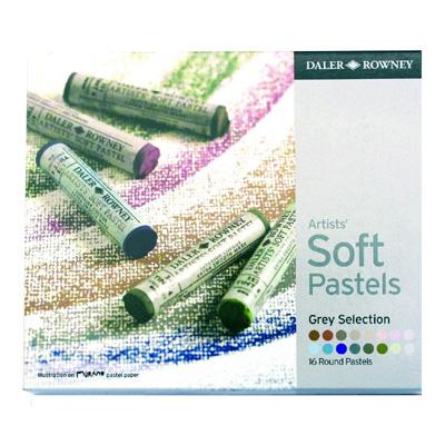 Daler Rowney Soft Pastels set - 16 Grey