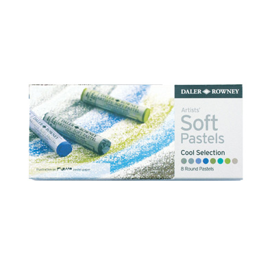 Daler Rowney Soft Pastels set - 8 Cool