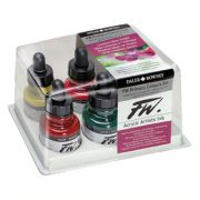 FW Artists Acrylic Ink Primary Colours set 6
