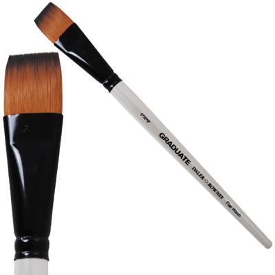 Graduate Synthetic Flat Wash Brushes