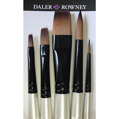 Graduate Synthetic 5 Long Handle Brush set