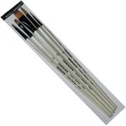 Graduate Synthetic 5 Long Handle Brush set