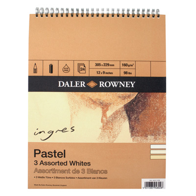 Ingres Artists' Pastel Paper, assorted whites