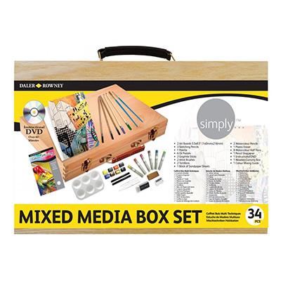 Daler Rowney Simply Mixed Media Wooden Box