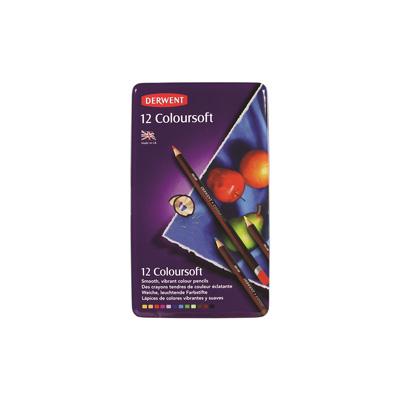 Derwent Coloursoft Pencil Tin of 12